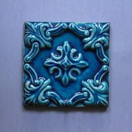 Azulejo Relevo - Azul Des. Tradicional