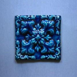 Azulejo Relevo - Azul 2 Des. Tradicional