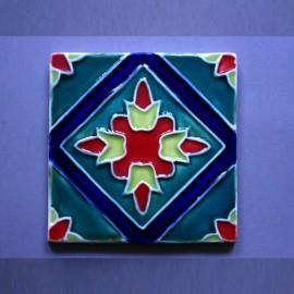 Azulejo Aresta - Botão de Flor 2 Desenho Tradicional
