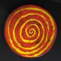 Prato Espiral Vermelho e Amarelo